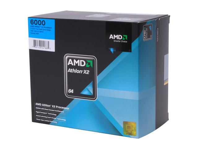 AMD Athlon 64 X2 6000 Dual-Core 3.1 GHz Socket AM2 89W ADV6000DOBOX Processor