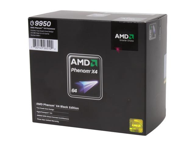 AMD Phenom 9950 X4 Black Edition Agena Quad-Core 2.6 GHz Socket AM2+ 140W HD995ZFAGHBOX Processor