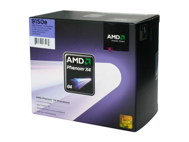 AMD Phenom X4 9150e 1.8 GHz Socket AM2+ HD9150ODGHBOX Processor