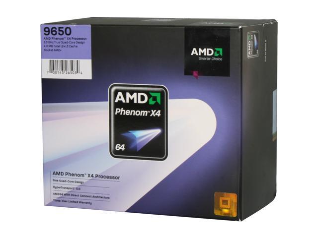 AMD Phenom X4 9650 2.3 GHz Socket AM2+ HD9650WCGHBOX Processor