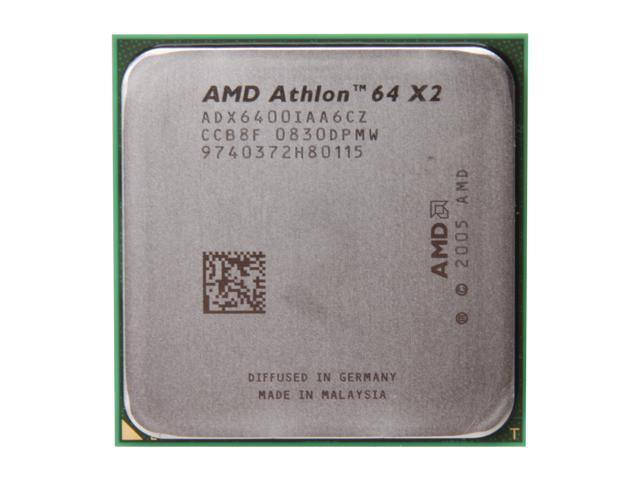 AMD Athlon 64 X2 6400+ Windsor Dual-Core 3.2 GHz Socket AM2 125W ADX6400IAA6CZ Processor