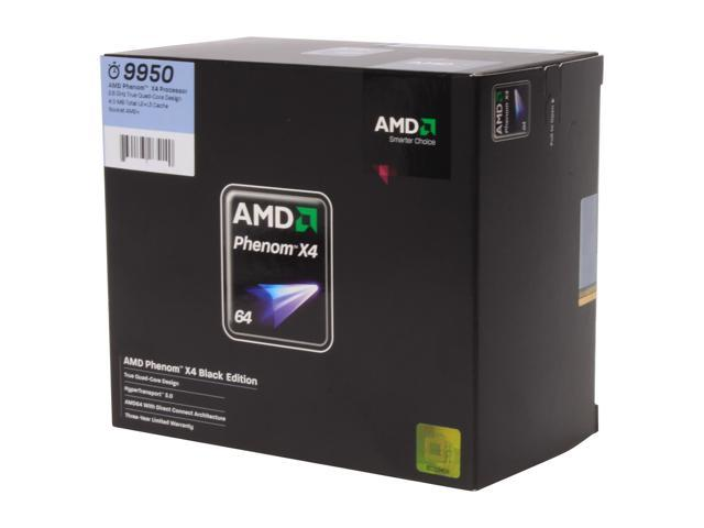 AMD Phenom 9950 2.6 GHz Socket AM2+ HD995ZXAGHBOX Black Edition Processor