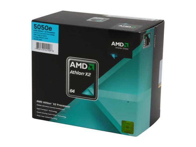 AMD Athlon 64 X2 5050e Brisbane Dual-Core 2.6 GHz Socket AM2 45W ADH5050DOBOX Processor