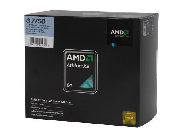AMD Athlon 64 X2 7750 2.7 GHz Socket AM2+ AD775ZWCGHBOX black edition Processor
