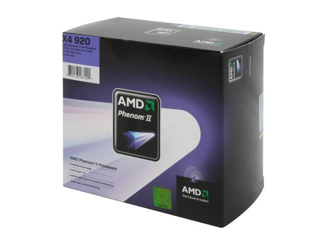 AMD Phenom II X4 920 Quad-Core 2.8 GHz Socket AM2+ 125W HDX920XCGIBOX Processor
