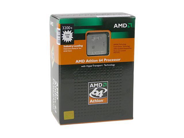 AMD Athlon 64 3200+ Newcastle Single-Core 2.2 GHz Socket 754 ADA3200AXBOX Processor