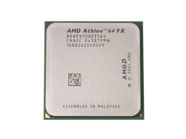 AMD Athlon 64 FX-55 ClawHammer Single-Core 2.6 GHz Socket 939 ADAFX55DEI5AS Processor