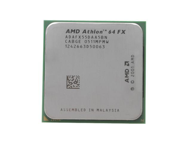 AMD Athlon 64 FX-55 San Diego Single-Core 2.6 GHz Socket 939 104W ADAFX55DAA5BN Processor