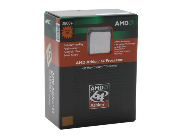AMD Athlon 64 3800+ Venice Single-Core 2.4 GHz Socket 939 89W ADA3800BPBOX Processor