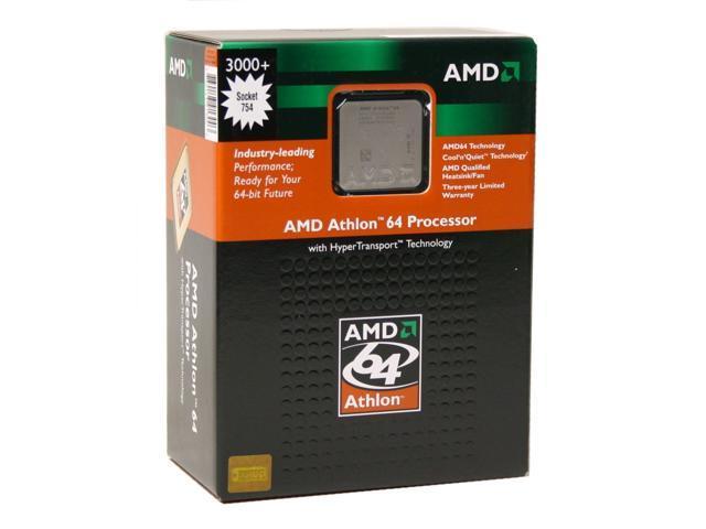 AMD Athlon 64 3000+ Venice Single-Core 2.0 GHz Socket 754 ADA3000BXBOX Processor