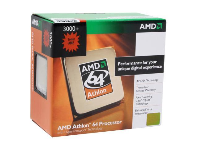 AMD Athlon 64 3000+ Orleans Single-Core 1.8 GHz Socket AM2 62W ADA3000CNBOX Processor