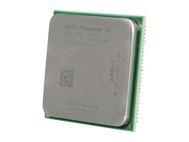 AMD Phenom II X4 940 Black Edition Deneb Quad-Core 3.0 GHz Socket AM2+ 125W HDZ940XCJ4DGI Processor