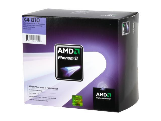 AMD Phenom II X4 810 Deneb Quad-Core 2.6 GHz Socket AM3 95W HDX810WFGIBOX Processor