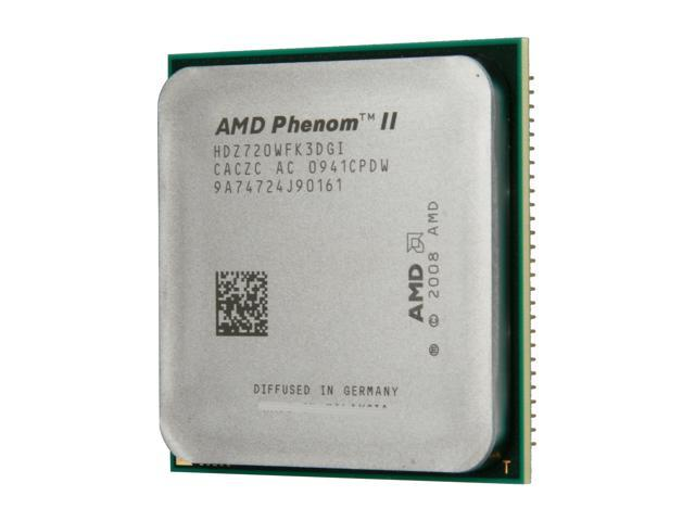 AMD Phenom II X3 720 Black Edition Heka Triple-Core 2.8 GHz Socket AM3 95W HDZ720WFK3DGI Processor