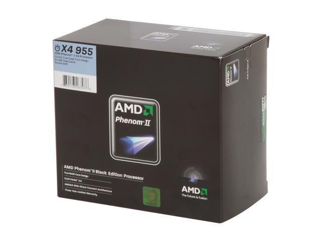AMD Phenom II X4 955 Black Edition Deneb Quad-Core 3.2 GHz Socket AM3 125W HDZ955FBGIBOX ...