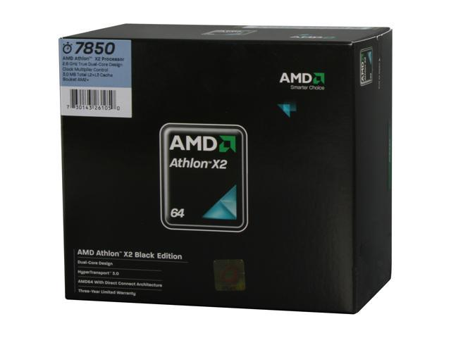 AMD Athlon X2 7850 Black Edition Kuma Dual-Core 2.8 GHz Socket AM2+ 95W AD785ZWCGHBOX Processor
