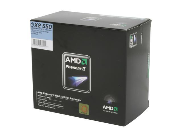 AMD Phenom II X2 550 Black Edition 3.1 GHz Socket AM3 HDZ550WFGIBOX Processor
