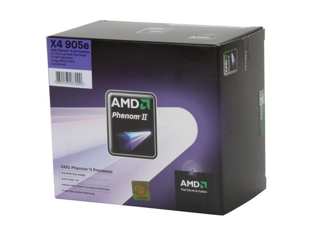 AMD Phenom II X4 905e Deneb Quad-Core 2.5 GHz Socket AM3 65W HD905EOCGIBOX Processor - Newegg.com