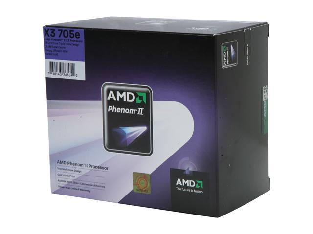AMD Phenom II X3 705e Heka Triple-Core 2.5 GHz Socket AM3 65W HD705EOCGIBOX Processor