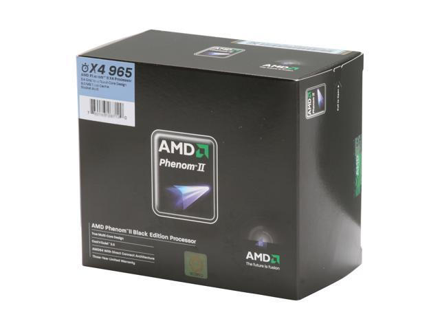 AMD Phenom II X4 965 Black Edition Deneb Quad-Core 3.4 GHz Socket AM3 140W HDZ965FBGIBOX Processor