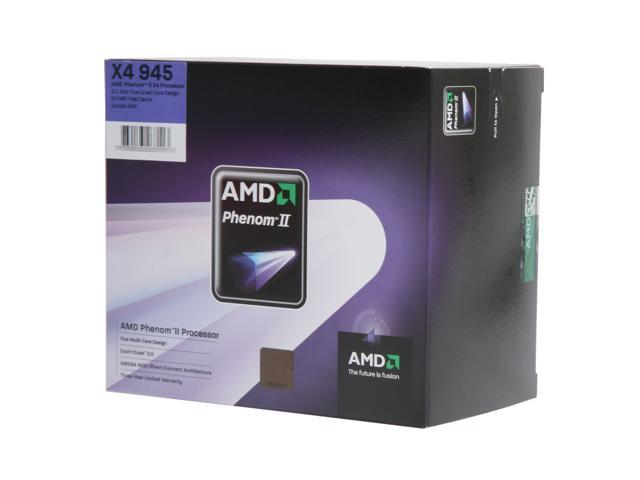 AMD Phenom II X4 945 Deneb Quad-Core 3.0 GHz Socket AM3 95W HDX945WFGIBOX Processor