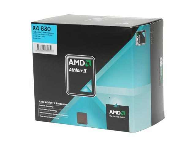 AMD Athlon II X4 630 Propus Quad-Core 2.8 GHz Socket AM3 95W ADX630WFGIBOX Processor