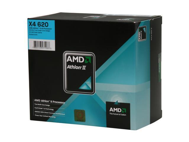 AMD Athlon II X4 620 Propus Quad-Core 2.6 GHz Socket AM3 95W ADX620WFGIBOX Processor