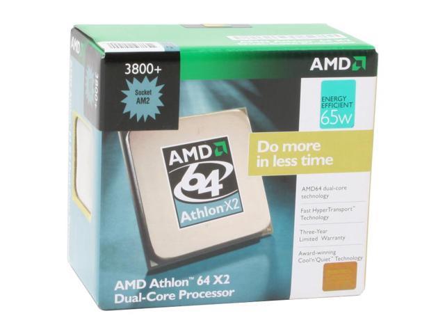 AMD Athlon 64 X2 3800+ Windsor Dual-Core 2.0 GHz Socket AM2 65W ADO3800CUBOX Processor