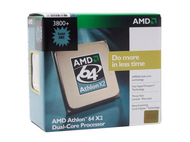 AMD Athlon 64 X2 3800+ Windsor Dual-Core 2.0 GHz Socket AM2 89W ADA3800CUBOX Processor