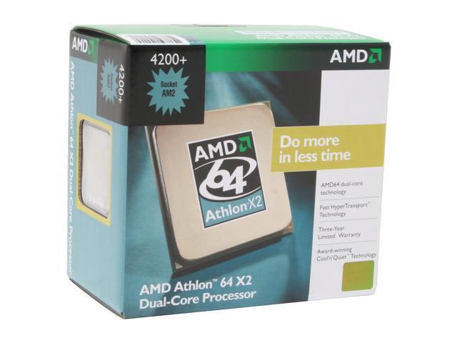 AMD Athlon 64 X2 4200+ 2.2 GHz Socket AM2 ADA4200CUBOX Processor