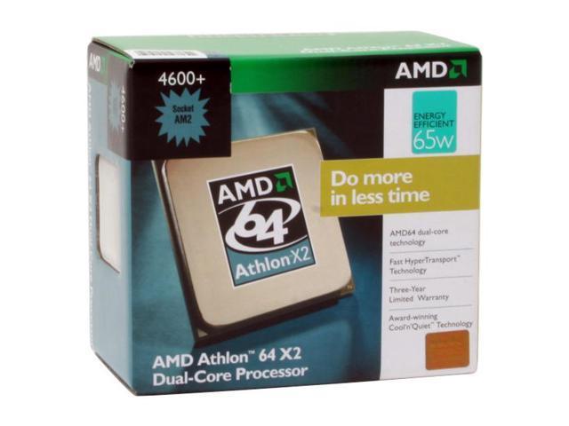 AMD Athlon 64 X2 4600+ 2.4 GHz Socket AM2 ADO4600CUBOX Processor