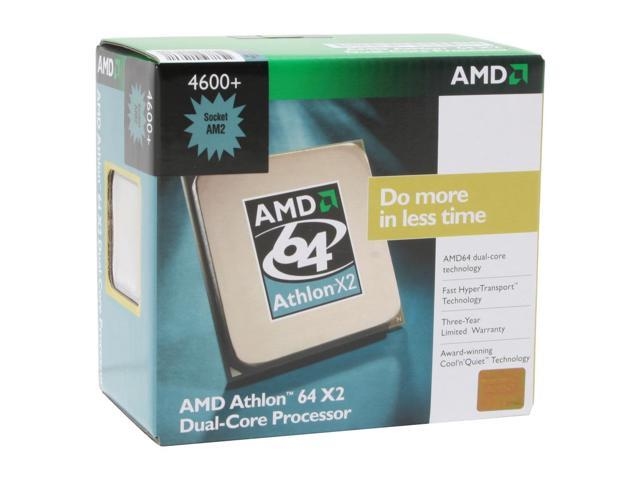 AMD Athlon 64 X2 4600+ Windsor Dual-Core 2.4 GHz Socket AM2 89W ADA4600CUBOX Processor