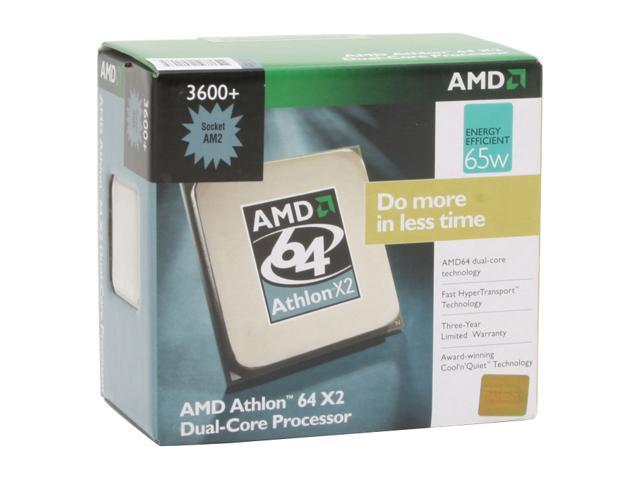 AMD Athlon 64 X2 3600+ 2.0 GHz Socket AM2 ADO3600CUBOX Processor
