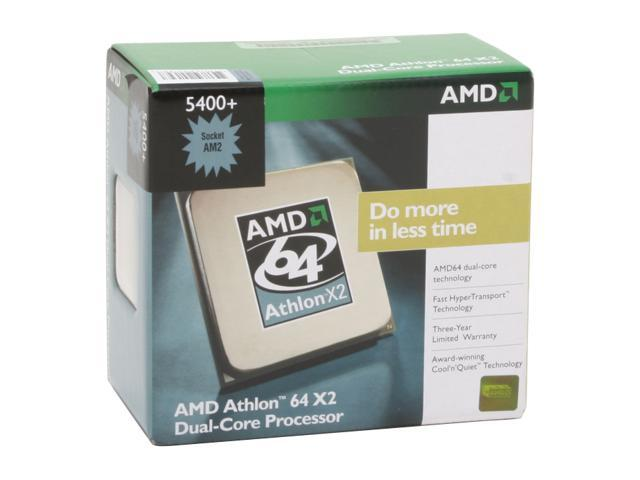 AMD Athlon 64 X2 5400+ 2.8 GHz Socket AM2 ADA5400CZBOX Processor