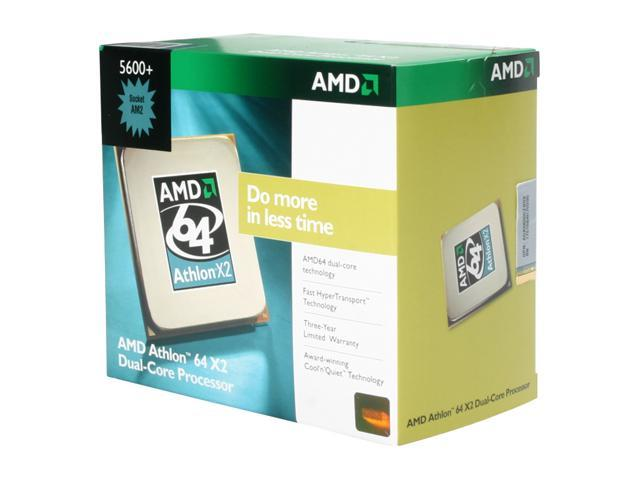 AMD Athlon 64 X2 5600+ Windsor Dual-Core 2.8 GHz Socket AM2 89W ADA5600CZBOX Processor