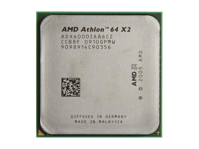 AMD Athlon 64 X2 6000+ Windsor Dual-Core 3.0 GHz Socket AM2 125W ADX6000IAA6CZ Processor