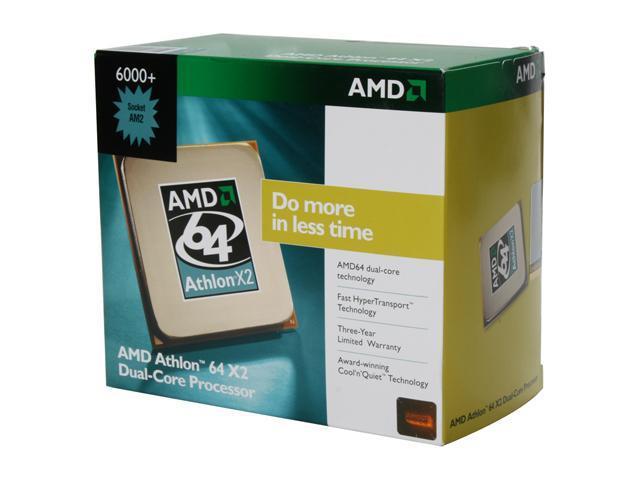 AMD Athlon 64 X2 6000+ 3.0 GHz Socket AM2 ADX6000CZBOX Processor