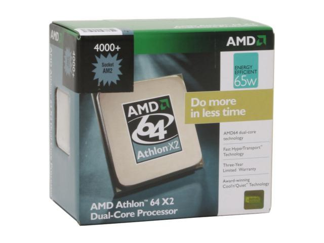 AMD Athlon 64 X2 4000+ Brisbane Dual-Core 2.1 GHz Socket AM2 65W ADO4000DDBOX Processor