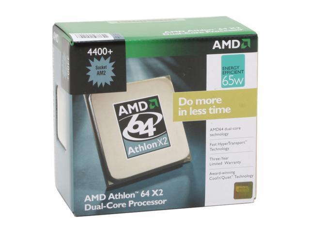 AMD Athlon 64 X2 4400+ 2.3 GHz Socket AM2 ADO4400DDBOX Processor