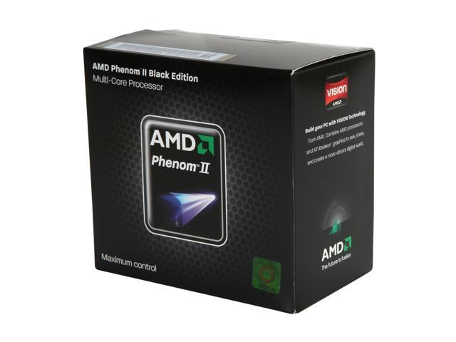 AMD Phenom II X4 955 Black Edition Deneb Quad-Core 3.2 GHz Socket AM3 125W HDZ955FBGMBOX Processor