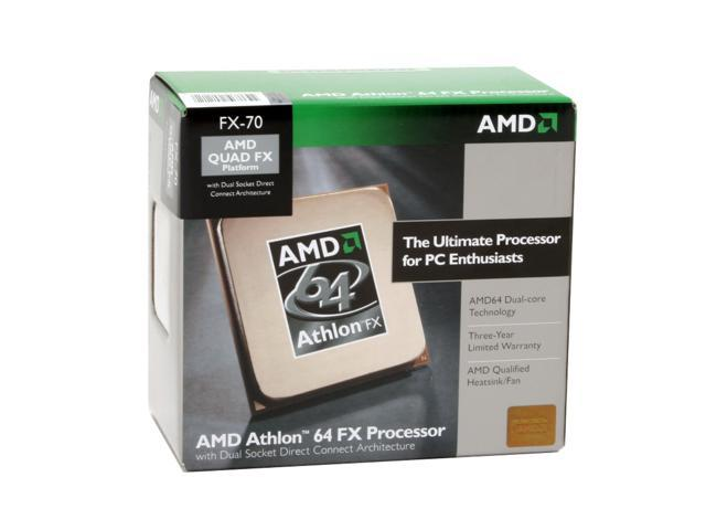 AMD Athlon 64 FX-70 Windsor Dual-Core 2.6 GHz Socket F (1207 FX) ADAFX70DIBOX DSDC Architecture Processor