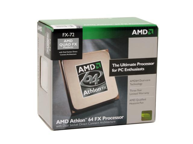 AMD Athlon 64 FX-72 2.8 GHz Socket F (1207 FX) ADAFX72DIBOX DSDC Architecture Processor
