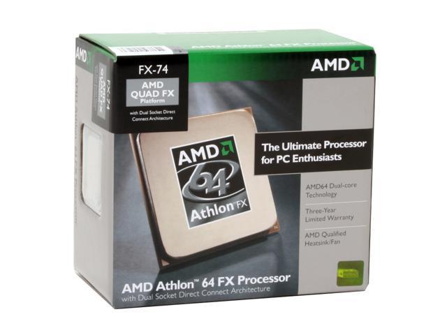 AMD Athlon 64 FX-74 Windsor Dual-Core 3.0 GHz Socket F (1207 FX) 125W ADAFX74DIBOX Processor