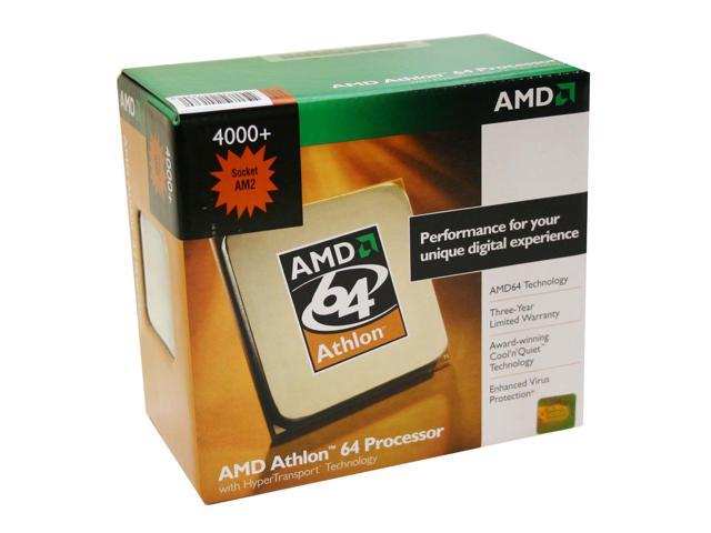 AMD Athlon 64 4000+ Single-Core 2.6 GHz Socket AM2 62W ADA4000DHBOX Processor