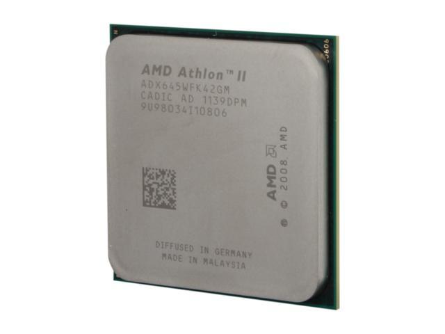 AMD Athlon II X4 645 Propus Quad-Core 3.1 GHz Socket AM3 95W ADX645WFK42GM Desktop Processor