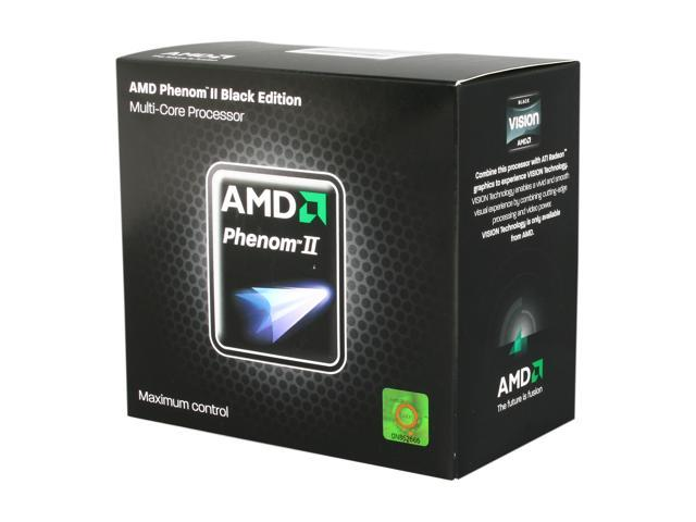 AMD Phenom II X6 1100T Black Edition Thuban 6-Core 3.3GHz, 3.7GHz Turbo Socket AM3 125W HDE00ZFBGRBOX Desktop Processor
