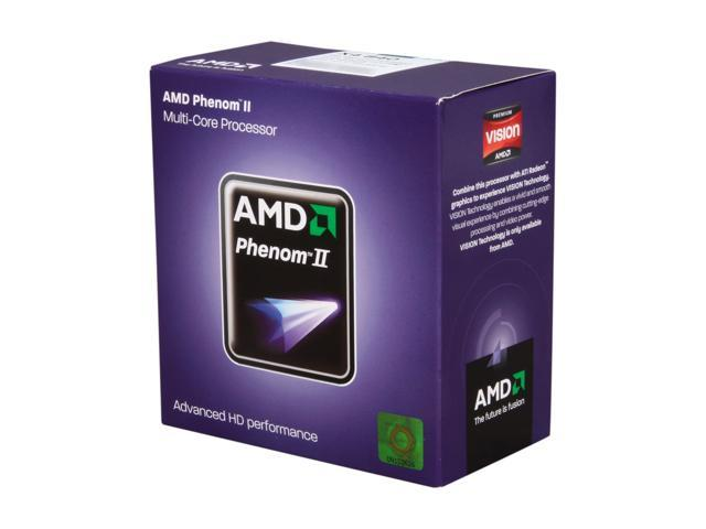 AMD Phenom II X4 840 Quad-Core 3.2 GHz Socket AM3 95W HDX840WFGMBOX Desktop Processor