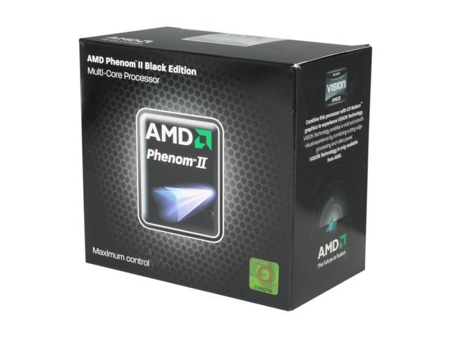 AMD Phenom II X4 975 Black Edition Deneb Quad-Core 3.6 GHz Socket AM3 125W HDZ975FBGMBOX Desktop Processor