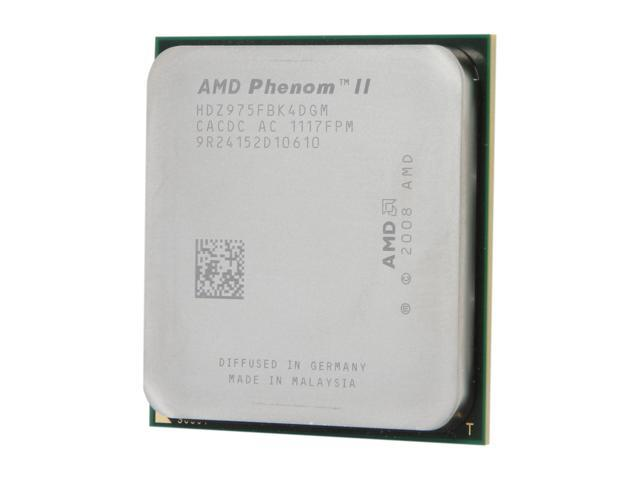 AMD Phenom II X4 975 Black Edition Deneb Quad-Core 3.6 GHz Socket AM3 125W HDZ975FBK4DGM Desktop Processor