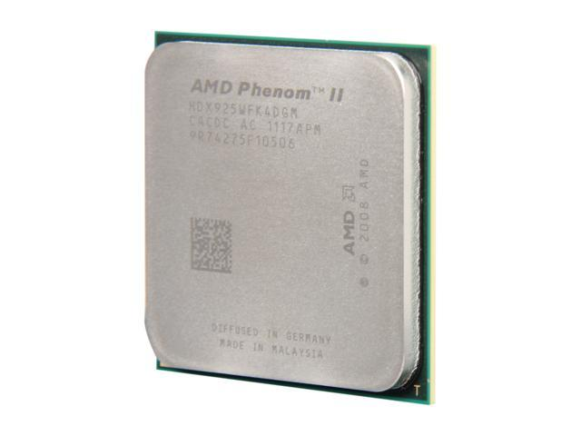 AMD Phenom II X4 925 2.8 GHz Socket AM3 HDX925WFK4DGM Desktop Processor - OEM